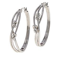 ELLE Sterling Silver Spellbound Knot Hoop Earrings