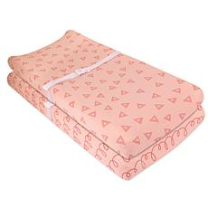 Ely's & Co. Cotton Jersey Changing Pad and Cradle Sheet Set 2-Pack