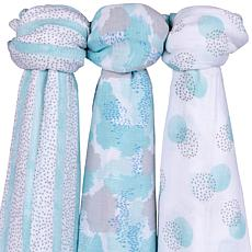 Ely's & Co. Muslin Bamboo Swaddle Blanket 3-Pack