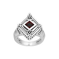 Elyse Ryan Sterling Silver Garnet Ring