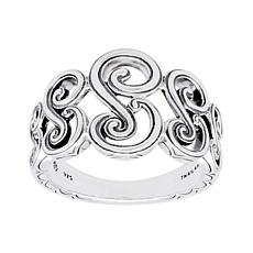 Elyse Ryan Sterling Silver Scroll Ring
