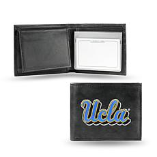 Embroidered Leather Billfold Wallet - UCLA