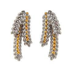 Emma Skye  Abstract Leaf Crystal Earrings