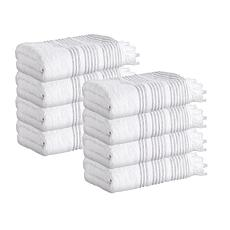 Enchante Home Ellen Set of 8 Turkish Cotton Hand Towels