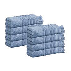 Enchante Home Ellen Set of 8 Turkish Cotton Wash Towels