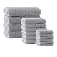 Enchante Home Veta 16-piece Turkish Cotton Bath Towel Set