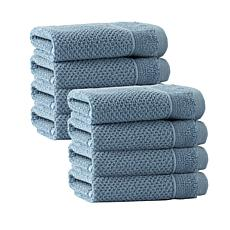 Enchante Home Veta Set of 8 Turkish Cotton Wash Cloths