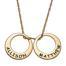 Engraved Name 2-Disc Necklace