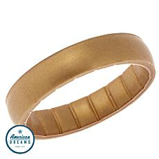 Enso Elements Thin Gold-Color Silicone Band Ring