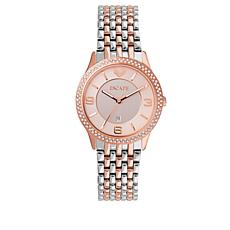 "ESCAPE Women's ""Clementine"" Rosetone/Silvertone Watch"
