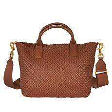 Etienne Aigner Irena Woven Leather Shopper Bag