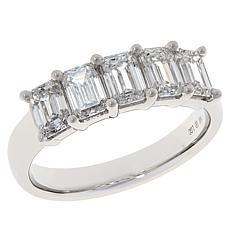 Ever Brilliant 14K White Gold 2ctw Lab Grown Diamond 5-Stone Band Ring