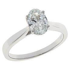 Ever Brilliant 14K White Gold Oval-Cut 1ct Lab Grown Diamond Ring