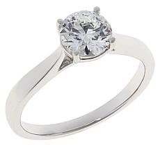 Ever Brilliant 14K White Gold Round 1ct Lab Grown Diamond Ring