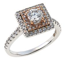 Ever Brilliant 1ctw Lab-Grown White Diamond 14K Cushion Ring