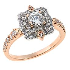 Ever Brilliant 1ctw Lab-Grown White Diamond 14K Square Ring