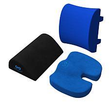Everlasting Comfort Lumbar Back Support Cushion Bundle