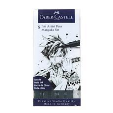Faber-Castell Manga Pen Mangaka Black Set of 6