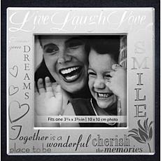 Fabric Expressions Black Album - Live, Love, Laugh