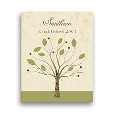 "Family Tree Personalized Canvas - 11"" x 14"""