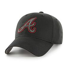Fan Favorite Atlanta Braves MLB Black Classic Adjustable Hat