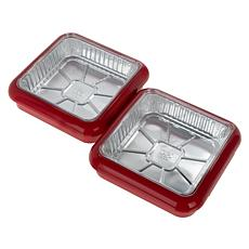 "Fancy Panz 2-pack 8"" x 8"" Stackable Serving Pans"