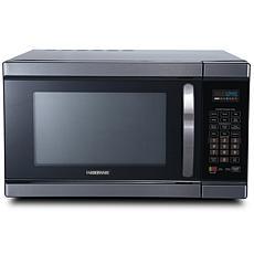 Farberware Black 1100-Watt Microwave Oven w/ Smart Sensor & Inverter