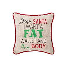 Fat Wallet Embroidered Pillow