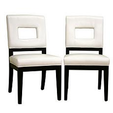 Faustino Leather Dining Chairs - Set of 2