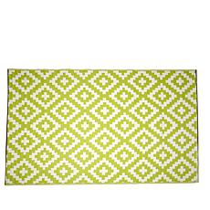 FH Home Indoor/Outdoor Rug - Kilim Pattern 5' x 8'