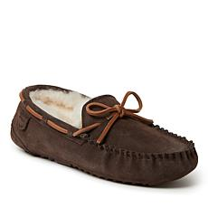 Fireside by Dearfoams Men's Victor Shearling Moccasin - Wide