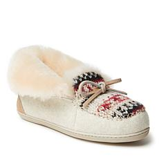 Fireside by Dearfoams Women's Brisbane Foldover Moccasin Slipper