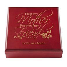 First My Mother, Forever My Friend Personalized Wooden Keepsake Box