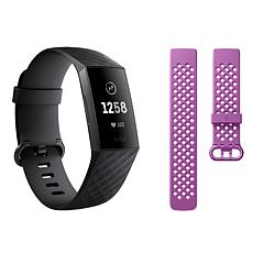 Fitbit Charge 3 Heart Rate and Fitness Tracker with Extra Band
