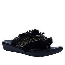 FitFlop Ava Crystal Stone Fringy Thong Sandal