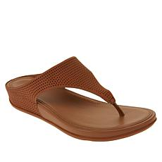 FitFlop Banda Perforated Leather Toe Post Sandal