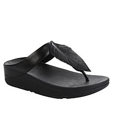 FitFlop Fino Feather Leather Toe Post Sandal