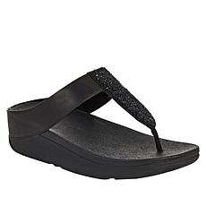 FitFlop Sparkle Crystal Leather Toe Post Sandal