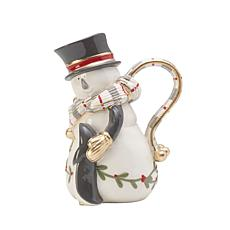 Fitz and Floyd Mistletoe Merriment Snowman Pitcher