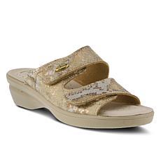 Flexus Kina-Metallic Slide Sandals