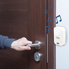 Flipo Wireless Doorbell w/Motion-Sensing LED Light & Selectable Tones