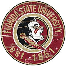Florida State Distressed Round Sign