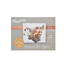Fluid 100 Watercolor Paper EZ Blocks Cold Press 9 x 12 140 lb.