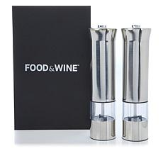 FOOD & WINE™ 2-piece Electric Spice Mill Set