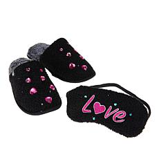 Foot Petals Valentine's Day Slipper and Sleep Mask Set