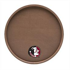 "Football-Textured 14"" Serving Tray - Florida State Un."