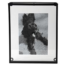 """Foreside Home & Garden 8x10"""" Decorative Black Metal Picture Frame"""