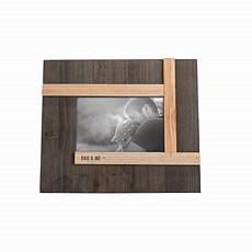 """Foreside Home & Garden Dark Wood Dad & Me 4x6"""" Wood Picture Frame"""