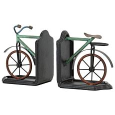 Foreside Home & Garden Multicolor 2-Piece Metal Bicycle Bookends