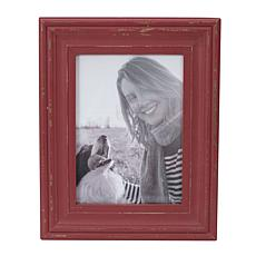 """Foreside Home & Garden Red 5x7"""" Distressed Wood Picture Frame"""